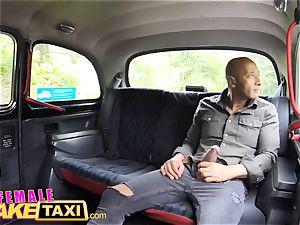 female fake taxi massive dark-hued man rod internal ejaculation