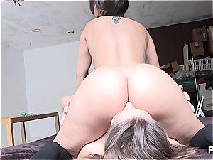 nasty ladies tonguing some bum
