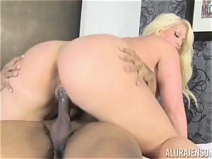 Lusty Alura Jenson tries the pink cigar of her martial arts instructor