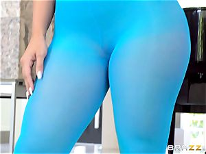lithe stunner Kelsi Monroe is torn out of her spectacular nylons