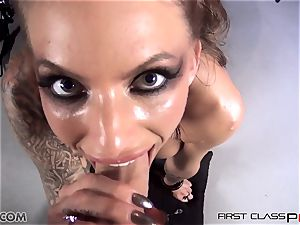 very first Class point of view - Juelz take a fat shaft in her throat
