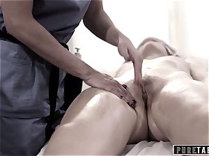 pure TABOO school lady Duped 2 pulverizing masseuse couple