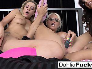 three-way pinkish sock lesbians