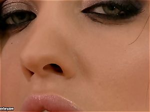 Aletta Ocean pumps her eager gash with a humungous pink plastic man meat