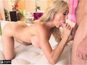 drizzling Brandi love enjoys having a manstick in her pussy
