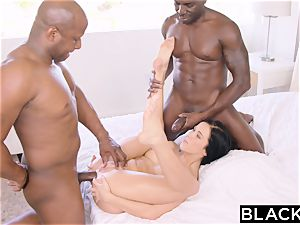 BLACKED steamy Megan Rain Gets DP'd By Her Sugar daddy and His mate
