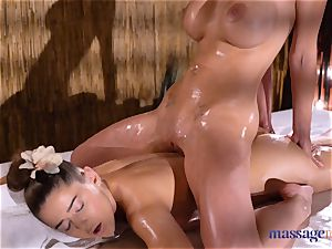 massage apartments Amirah Adara and Nathaly Cherie magnificent massage
