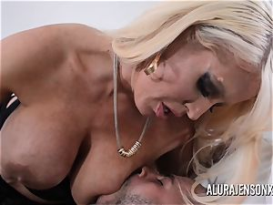 big-chested blonde Alura Jenson luvs a guy in uniform