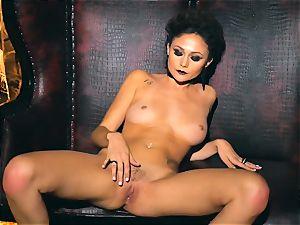 slim puny Ariana Marie handsome rubber solo masturbation