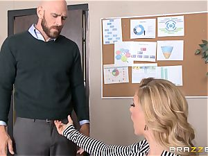 mummy boss Cherie Deville gets shafted by a immense dicked employee