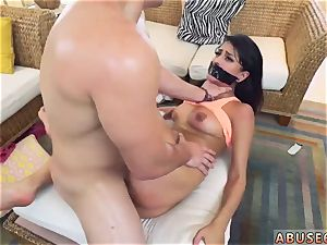 assistant smacked and pummeled tied ball-gagged very first time Sophia Leone Gets It The Way She