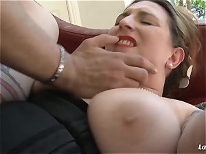 LA newcomer - big-boobed French inexperienced plus-size snatch pulverized deep
