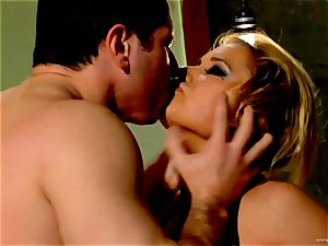 Shyla Stylez takes this rigid salami deep in her cock-squeezing caboose