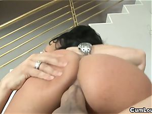crazy Anissa Kate rides a immense spear deep in her bootie