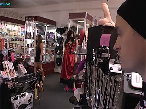 excellent cutie Amirah Adara and inked doll Misha Cross plays with their dildos