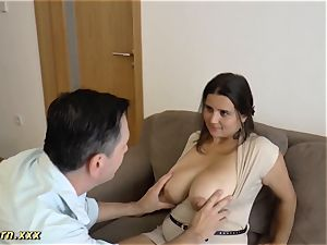 thick orb German gives steamy boob fucking