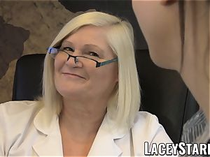 LACEYSTARR - GILF heals patient with girl-on-girl orgasm