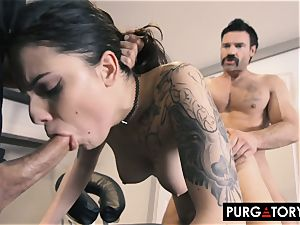 PURGATORY I let my wife plow two guys in front of me