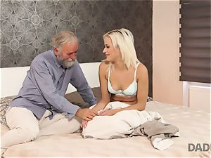 DADDY4K. chick rides elderly gentleman s joystick in father pornography video