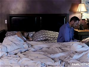 Krissy Lynn hammered by her suspended stepdad next to her mummy