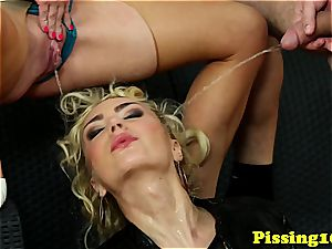horny nymphs enjoy cum and piss equally