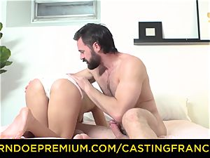 audition FRANCAIS - inexperienced cutie porked and jizm facialed