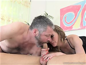Mona Wales Turns Her husband Into ideal fuckpole cockblower