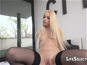 super-hot towheaded engulfs a ginormous pipe - Kira Thorn