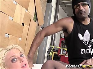 Leya Falcon Gets analed By A hung black fellow