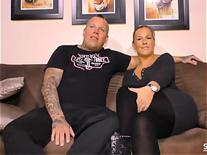 SEXTAPE GERMANY - powerful intercourse with tattooed German minx
