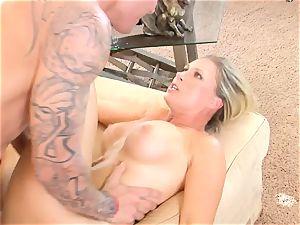 Devon Lee stunner getting mans gravy split in her facehole