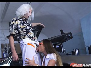 Cathy Heaven cootchie boned in this video parody back in time