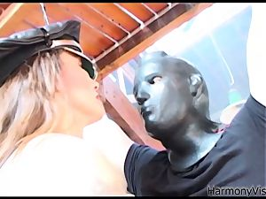 HARMONY VISION anal pounding Alicia Rhodes with belt dick