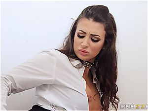 Spanish office hoe tongues immense meat in the wc