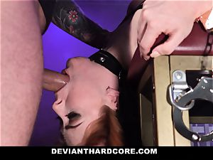 DeviantHardcore - super-hot red-haired Gets hatch nailed