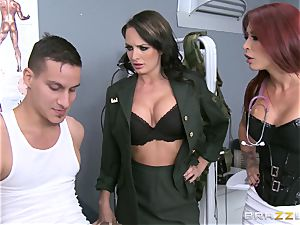 Alektra Blue and Monique Alexander put a soldier thru his paces