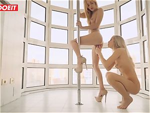 lezzie duo loves Afternoon super-hot romp on the Balcony