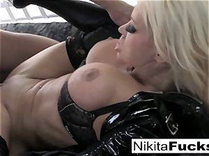 big-titted Nikita porks a ginormous lollipop
