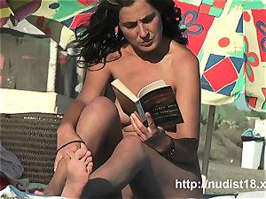 Public nudist spycam gets a really super-hot nudist vid
