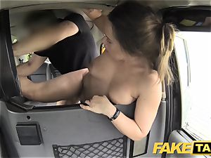 faux cab euro dame penetrated with rock firm lollipop facial cumshot