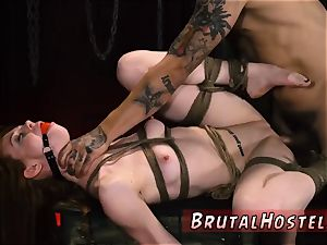 bondage slave sold super-sexy youthfull damsels, Alexa Nova and Kendall forest, take a train-ride to