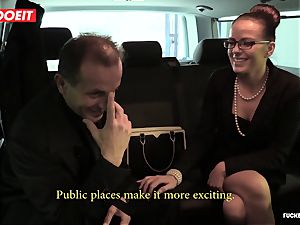 impressive fuckfest In cab taxi with Czech stunner Samantha Joons