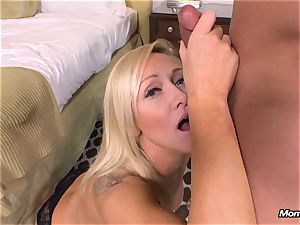 new towheaded milf gets anal invasion point of view