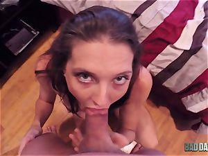 spunk hungry virgin Poppens blows stepparent