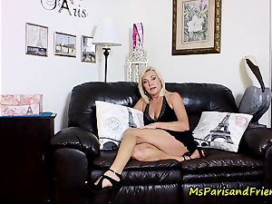 cum on Mommy's boobies with Ms Paris Rose