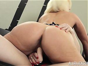 Alura Jenson vagina filled with belt dick mighty bulky dame Brandi May