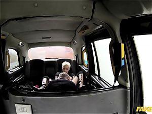 fake cab scorching sultry tough backseat hook-up