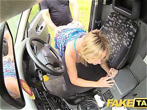 fake cab Mum with congenital jugs gets thick british wood