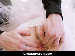 GingerPatch - sandy-haired Ballerina riding Judges gigantic cock