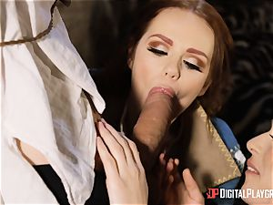 honeys Ella and Olive dream ravage with monster pecker